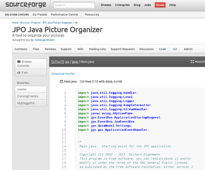 JPO is Free Open Source Software